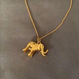 Stella & Dot gold elephant necklace